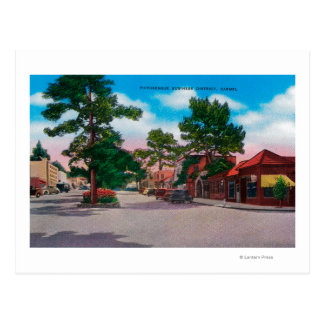 Picturesque Business District, Carmel Postcard