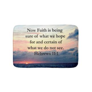 PICTURESQUE HEBREWS 11:1 PHOTO DESIGN BATH MAT