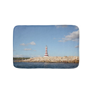 Picturesque Lighthouse in the Caribbean Bath Mat