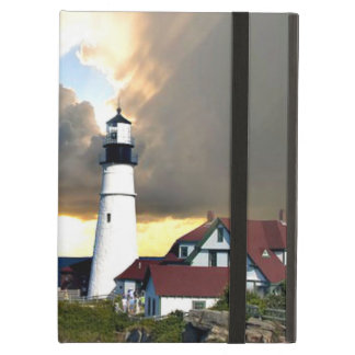 Picturesque Lighthouse on Rocky Shore iPad Air Cases