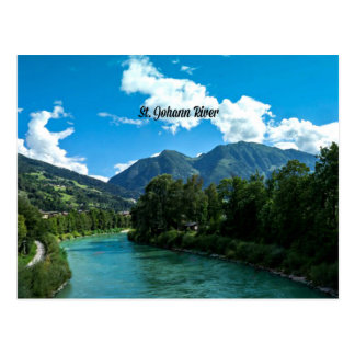 Picturesque St. Johann River, Austria Postcard