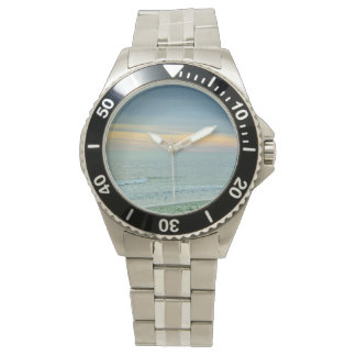Picturesque Sunset on the Coast Wristwatch