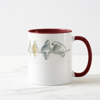 pidgeons on a wire mug