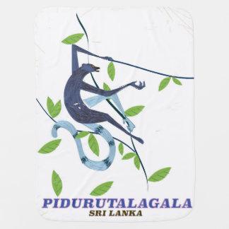 Pidurutalagala Sri Lanka travel poster. Baby Blanket