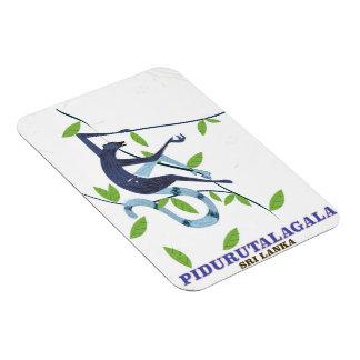 Pidurutalagala Sri Lanka travel poster. Magnet