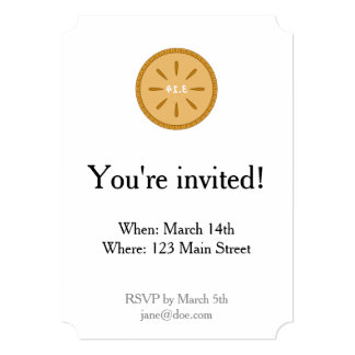 PIE = 3.14 Mirror Image Invitation