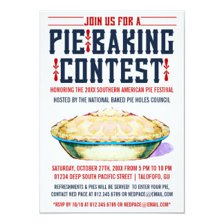 Pie Baking Contest Invitations