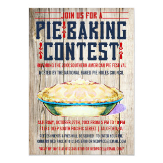 Pie Baking Contest Invitations