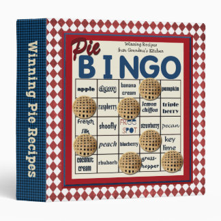 Pie Bingo Funny Recipe Vinyl Binders