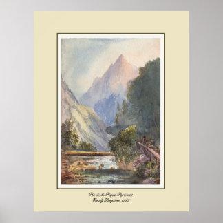 Pie de la Pique,Pyrenees. Poster