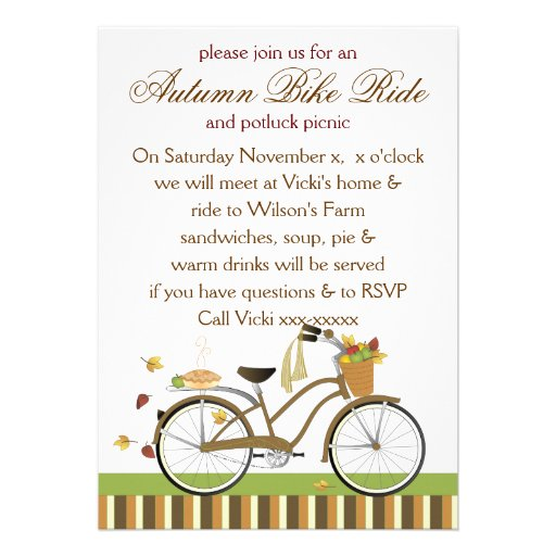 Pie Delivery Bicycle Custom Announcement