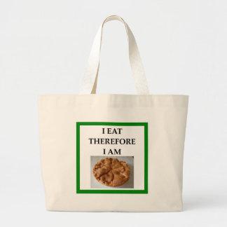 pie large tote bag