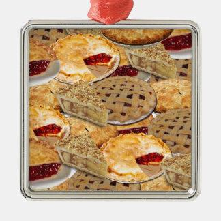 Pie Metal Ornament