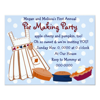 Pie Party Card