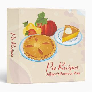 Pie Recipes Binder