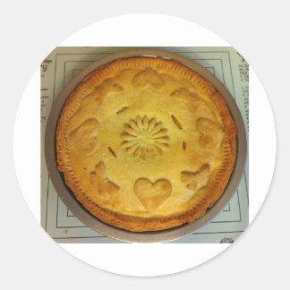 Pie Round Sticker