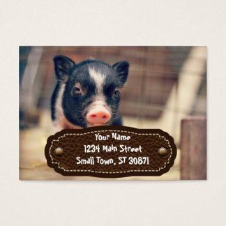 Piebald Pig puppy for Pig Lovers Business Card