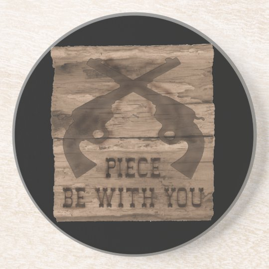 Piece Be With You Double Gun Coaster