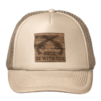 PIECE BE WITH YOU GUN HAT