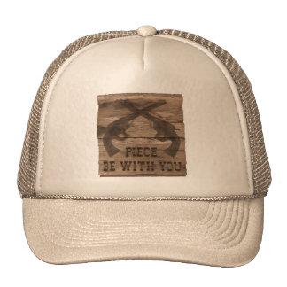 """PIECE BE WITH YOU"" Gun Pistol Trucker Hat"