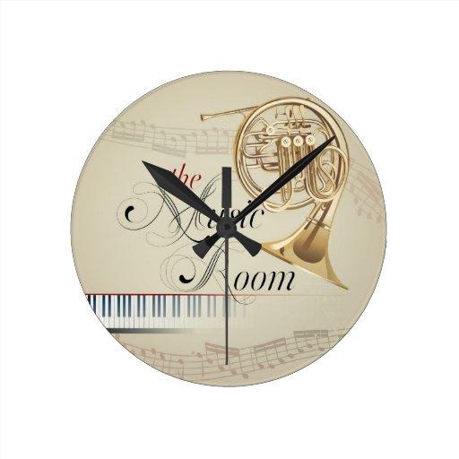 Pièce de musique de cor de harmonie horloges