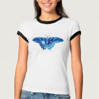Pièce en t bleue d'équilibre de contraste de t-shirt