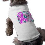 Pièce en t d'animal familier de conscience de canc vêtement pour chien