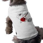 Pièce en t d'animal familier de roche de Cresteds T-shirt Pour Chien