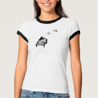 Pièce en t d'anneau du logo des femmes t-shirt