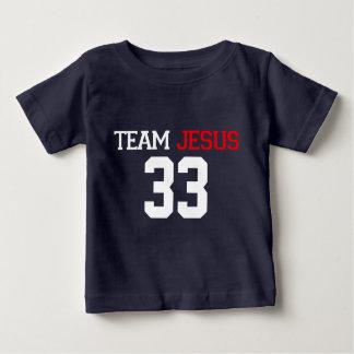 Pièce en t de BLEU MARINE de JÉSUS 33 d'équipe T-shirt Pour Bébé