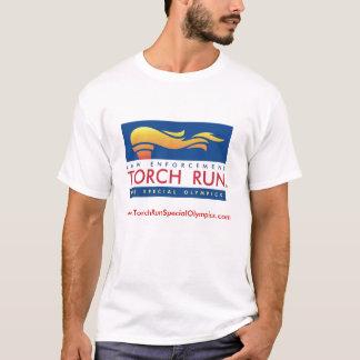 Pièce en t de course de torche t-shirt