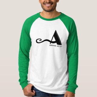 Pièce en t de raglan de la douille d'hommes verts t-shirt