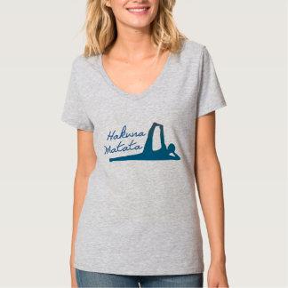 Pièce en t de yoga de Hakuna Matata pour des T-shirt