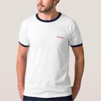 Pièce en t d'équilibre de bleu et de marine t-shirt