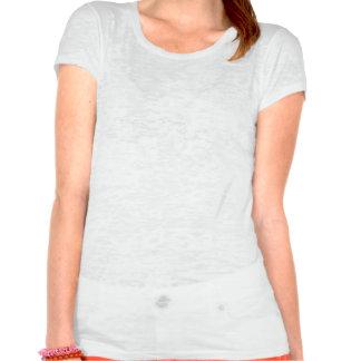 Pièce en t femelle moyenne adulte de burn-out t-shirts