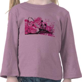 Pièce en t girly de petit diable mignon t-shirt