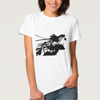 Pièce en t noire et blanche originale de Milan Tee Shirts