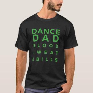 Pièce en t noire et verte de papa de danse t-shirt