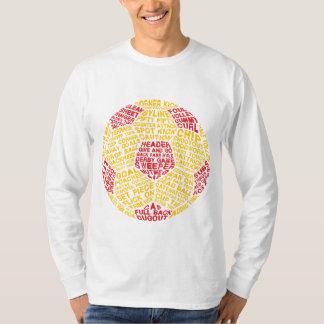 Pièce en t typographique de ballon de football t-shirt