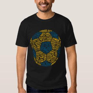 Pièce en t typographique de ballon de football tee shirt