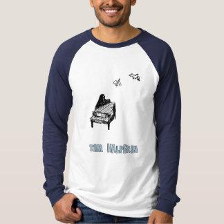 Pièce en t unisexe de logo de Long-douille T-shirt
