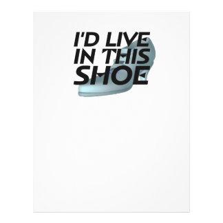 PIÈCE EN T vivante pour des chaussures Prospectus Customisé