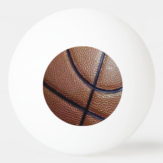 Piece of a basketball with dimples and lines ping pong ball