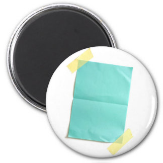 Piece of blank colored paper magnet