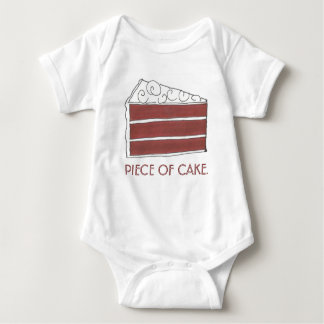 PIECE OF CAKE Red Velvet Layer Cake Slice Foodie Baby Bodysuit