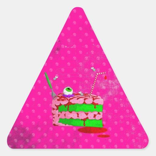 Piece Of Cake Triangle Stickers