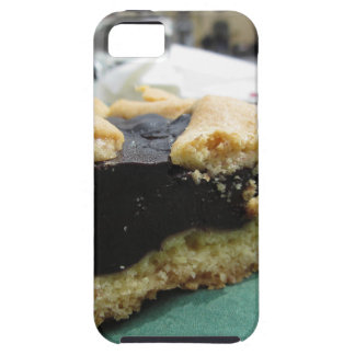 Piece of chocolate cake on green paper napkin iPhone 5 cover