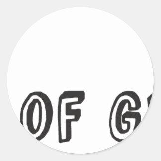 Piece of Genius Round Sticker