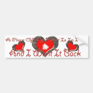 Piece of heart in iraq Bumper Sticker