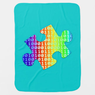 Piece of information baby blanket